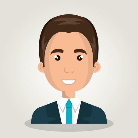 man cartoon male isolated vector illustration