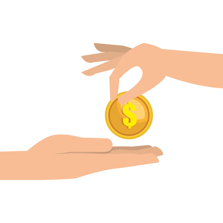 cash money: hand money currency cash isolated vector illustration