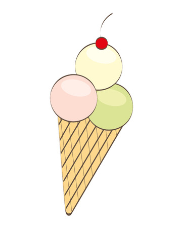 ice cream delicious dessert vector illustration design
