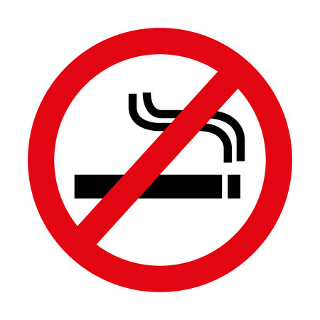 Nicht rauchen Verbot Zeichen Vektor-Illustration Design Standard-Bild - 62296113