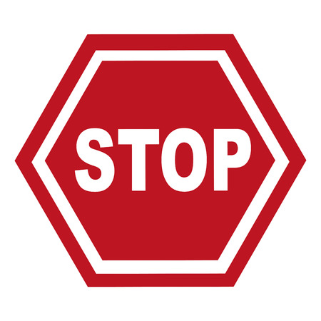 stop signal: stop signal classic isolated vector illustration design