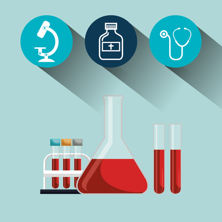 medical laboratory: set laboratory services medical isolated vector illustration Illustration