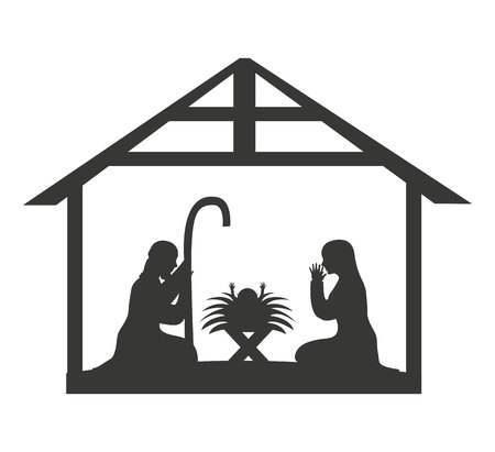 stable: manger stable home isolated vector illustration design