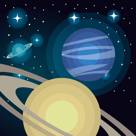 astronomy: astronomy system solar planets isolated vector illustration