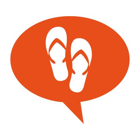 sandalias: Flip flops verano icono aislado diseño de ilustración vectorial