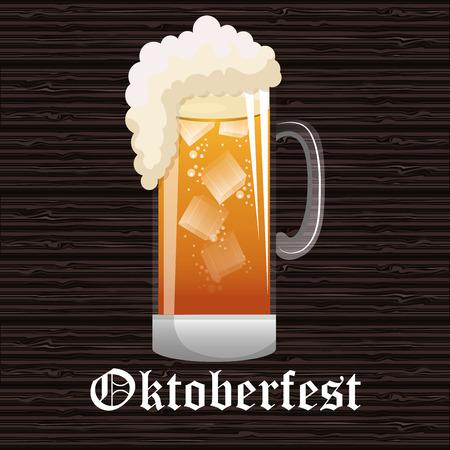 stein: oktoberfest beer festival isolated vector illustration
