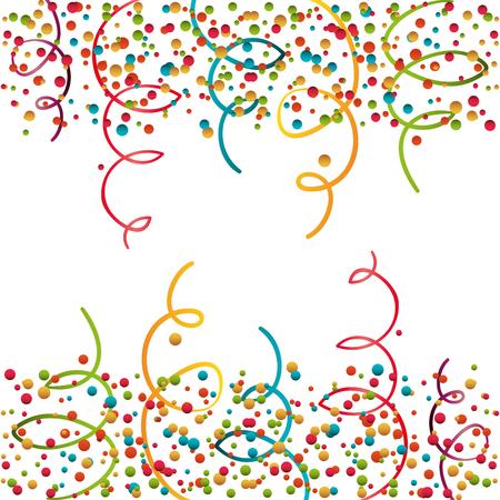 serpentine curling confetti isolated vector illustration eps 10 Illustration