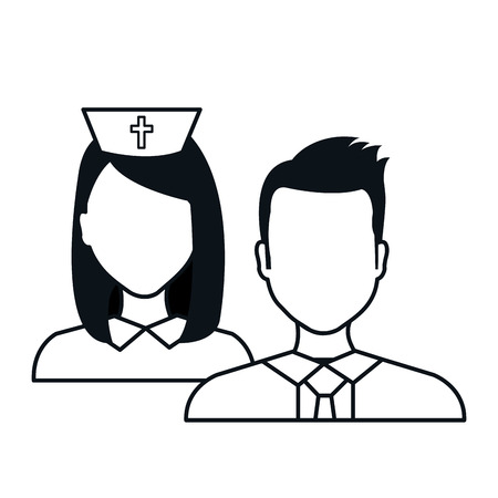 staff person medical service medical isolated vector illustration eps 10