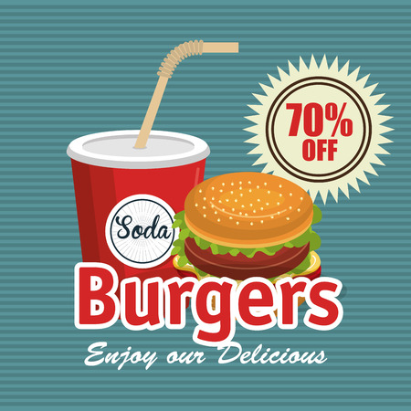 fast food burger design isolated vector illustration eps 10