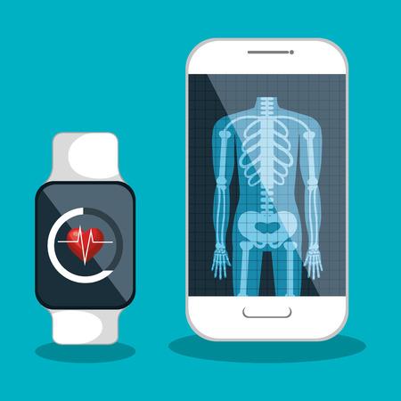 rayos x aislado ilustración vectorial de la salud médica digital eps 10 Ilustración de vector