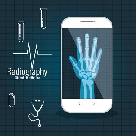 x ray numérique santé médicale isolé illustration vectorielle eps 10 Vecteurs