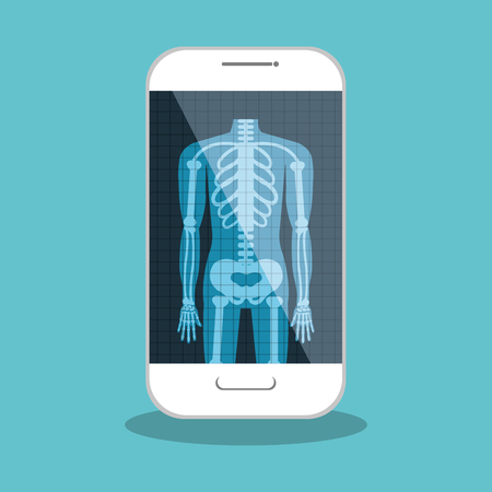 x ray image: x ray digital medical healthcare isolated vector illustration eps 10
