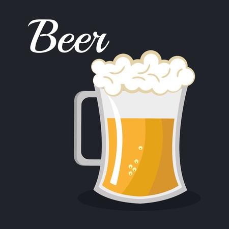 beer beverage drink isolated vector illustration eps 10 Illustration