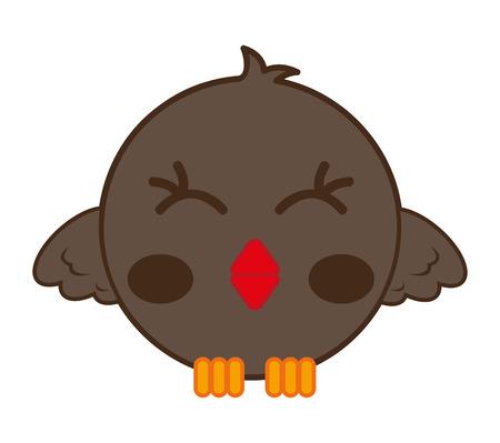 twit: cute bird comic cartoon vector illustration design