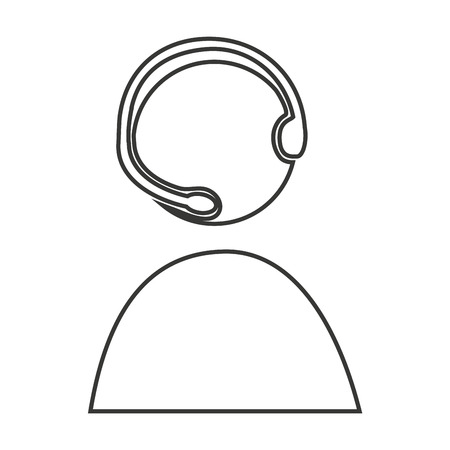 call center agent: call center agent silhouette vector illustration design