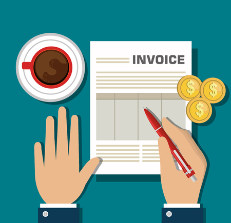 icon invoice form design vector illustration Illustration