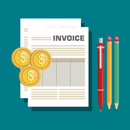 invoices: icon invoice form design vector illustration Illustration