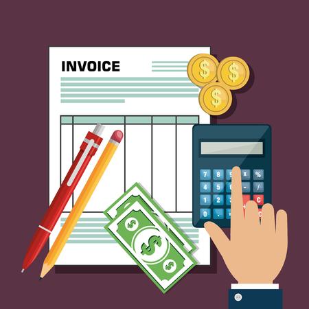 vat: icon invoice form design vector illustration Illustration