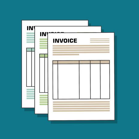 icon invoice form design vector illustration  イラスト・ベクター素材
