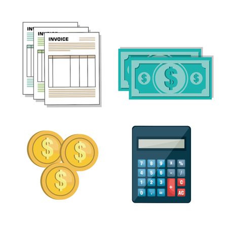 set icon invoice form design vector illustration
