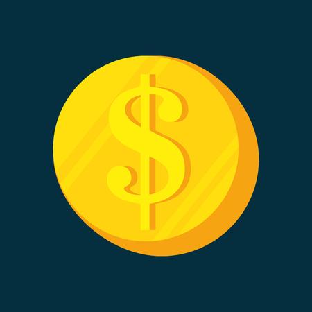 ganancias: cartoon money earnings design isolated vector illustration