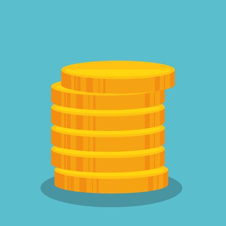 ganancias: dibujos animados diseño ganancias de dinero ilustración vectorial aislado