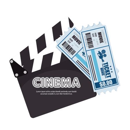 cinta pelicula: el cine de dibujos animados ilustración festival de cine de películas de diseño vectorial