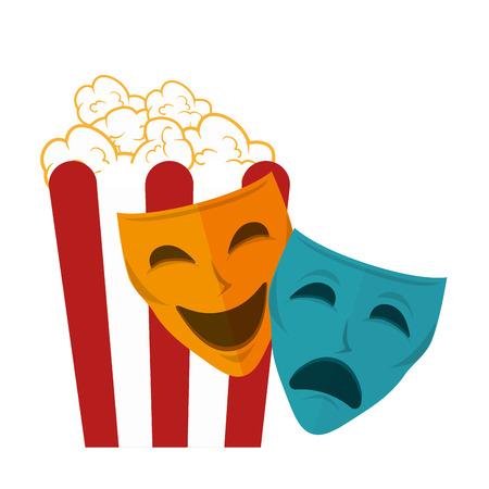 pop corn: icon pop corn cinema design vector illustration