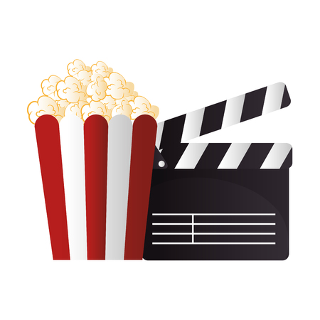 icon pop corn cinema design vector illustration