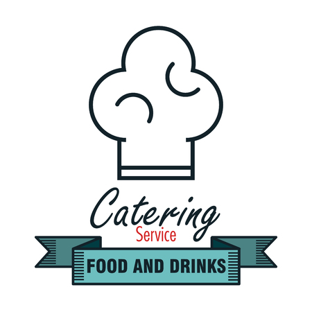 catering service: icon catering service food design vector illustration