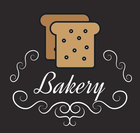 icon bakery bread slice design vector illustration Illustration