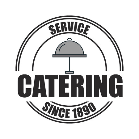 catering service: icon catering service food design vector illustration eps 10