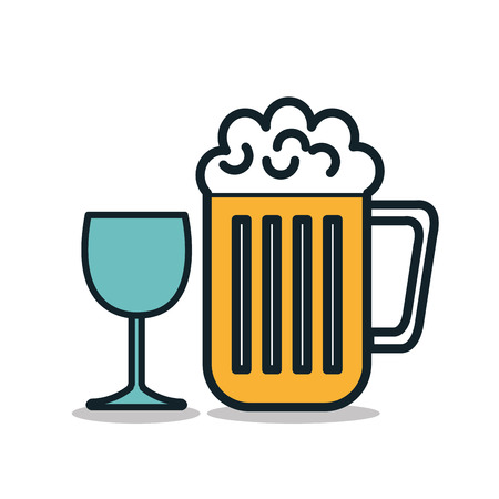 icon beer cold drink design vector illustration
