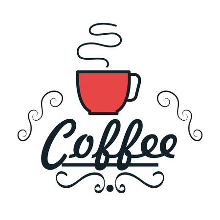 pot holder: icon cup coffee hot fresh design vector illustration