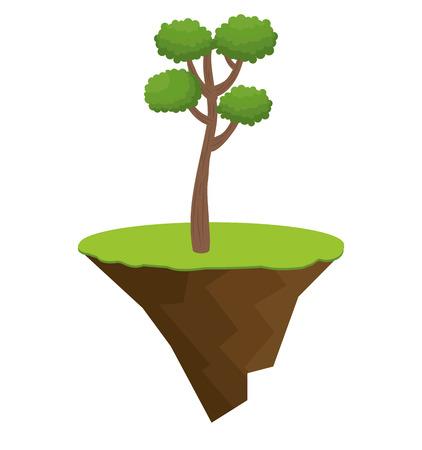 bonsai: icon tree bonsai design vector illustration