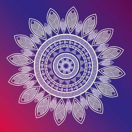 icon mandala india culture design vector illustration