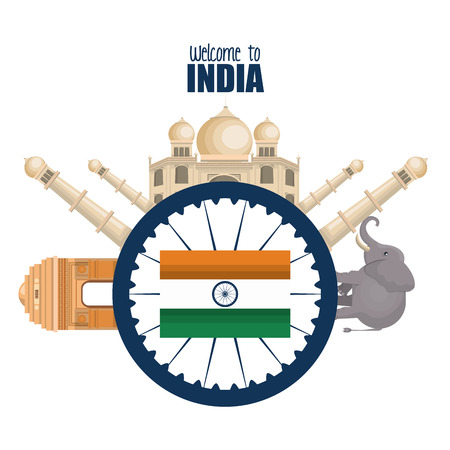 day independence india country design vector illustration