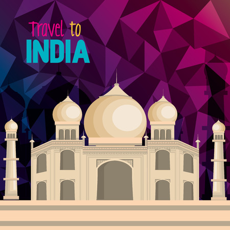 monuments: set monuments india design vector illustration
