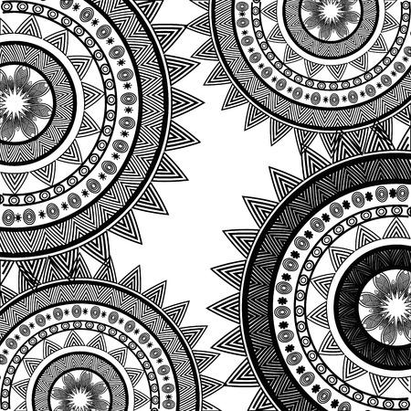 india culture: icon mandala india culture design vector illustration