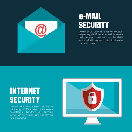 digital security: technology data digital security design vector illustration eps 10 Illustration