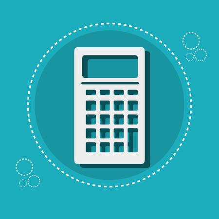 e commerce icon: icon calculator e- commerce design vector illustrtation