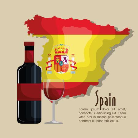 de vlag van spanje muziek ontwerp vector illustratie