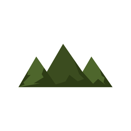 green mountain: green mountain and hills peak. natural landscape. vector illustration