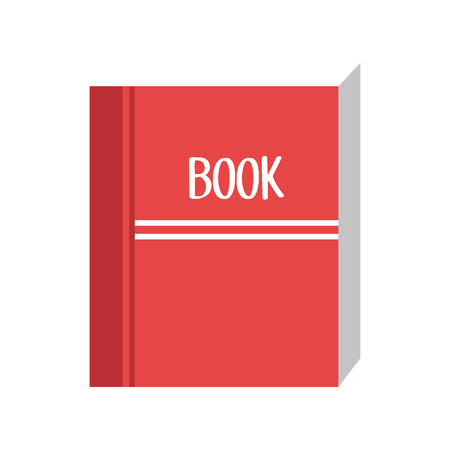 closed book: closed book with red cover. education and knowledge object. vector illustration Illustration