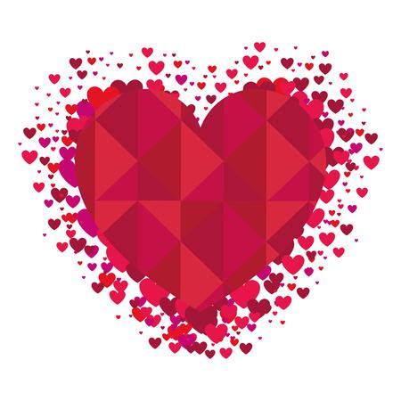 romance: heart abstract shape. love passion romance decoration. vector illustration