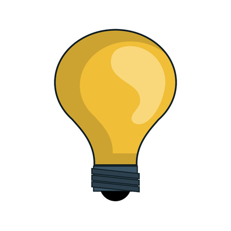 yellow bulb: yellow bulb power light energy electricity efficient object  vector illustration isolated Illustration