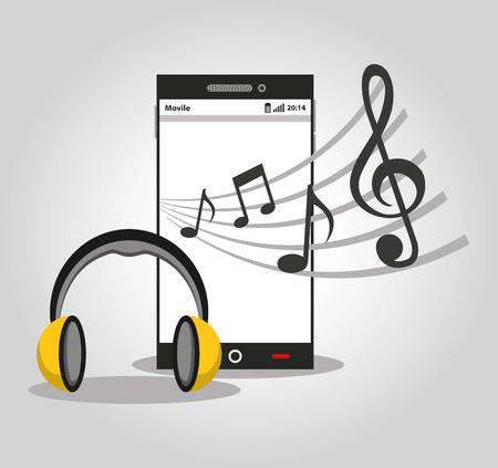 electronic device: music player device electronic vector illustration design Illustration