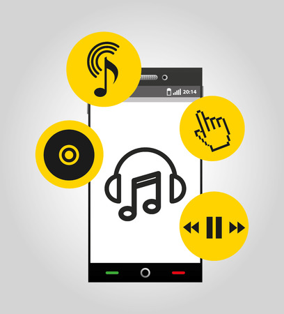music player device electronic vector illustration design Illustration