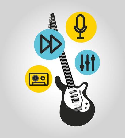 music entertainment poster classic vector illustration design
