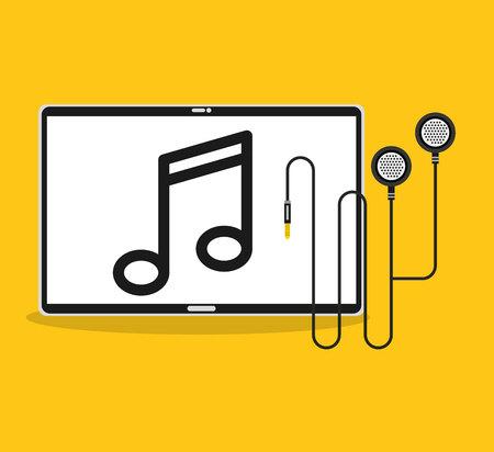 music player device electronic vector illustration design Illustration